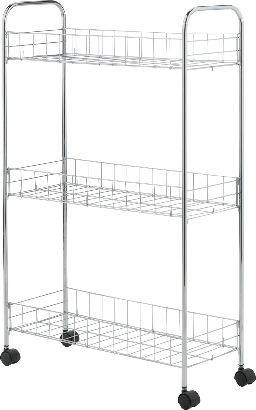 Image of HOME - 3 Tier Slim Kitchen Trolley