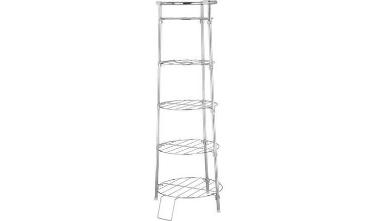 Argos Home 5 Tier Circular Chrome Pan Stand