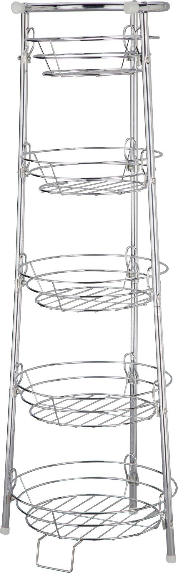Image of HOME - 5 Tier Chrome Finish Vegetable Stand