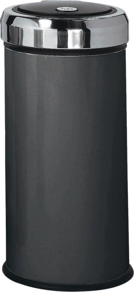 HOME - 30 Litre Matt Black Press Top Bin - Black