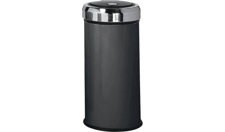 Argos Home 30 Litre Press Top Kitchen Bin - Matt Black