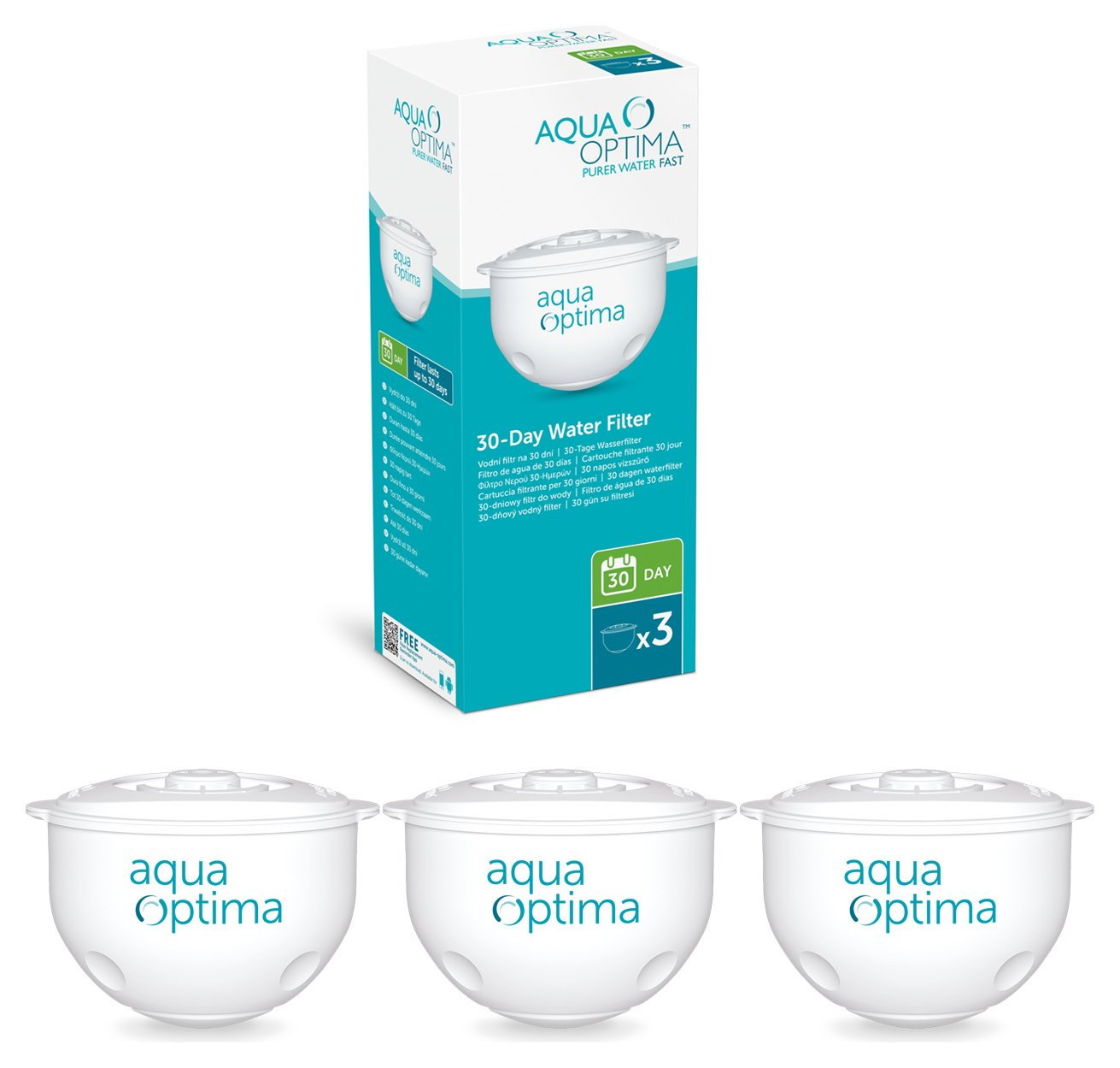 Image of Aqua Optima - 30 Day Water Filter - 3 Pack
