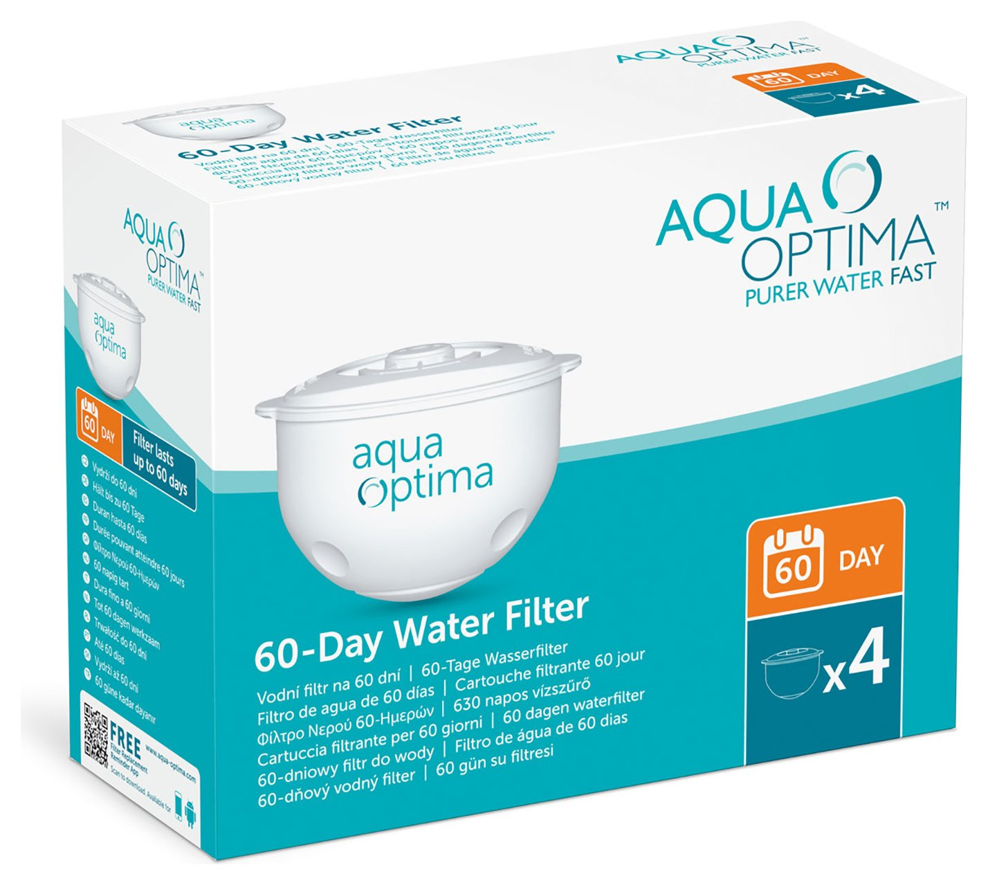 Image of Aqua Optima - 60 Day Water Filter - 4 Pack