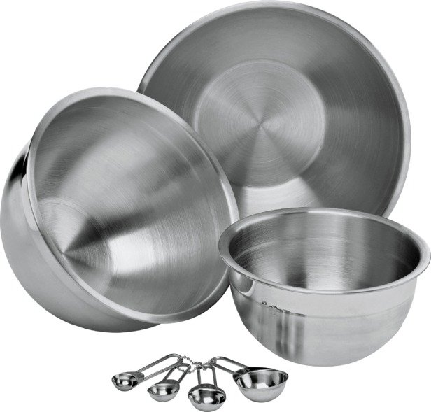 Image of HOME - 3 Mixing Bowls and Measuring Spoons Set