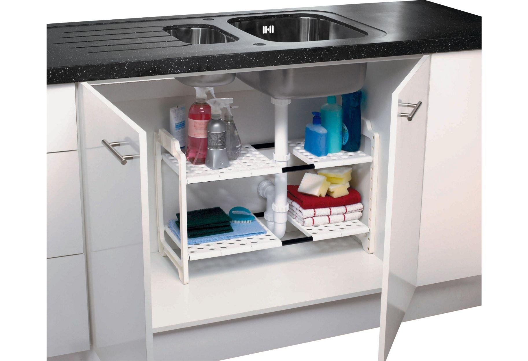 Buy Addis Under Sink Storage Unit White Kitchen Organisers Argos