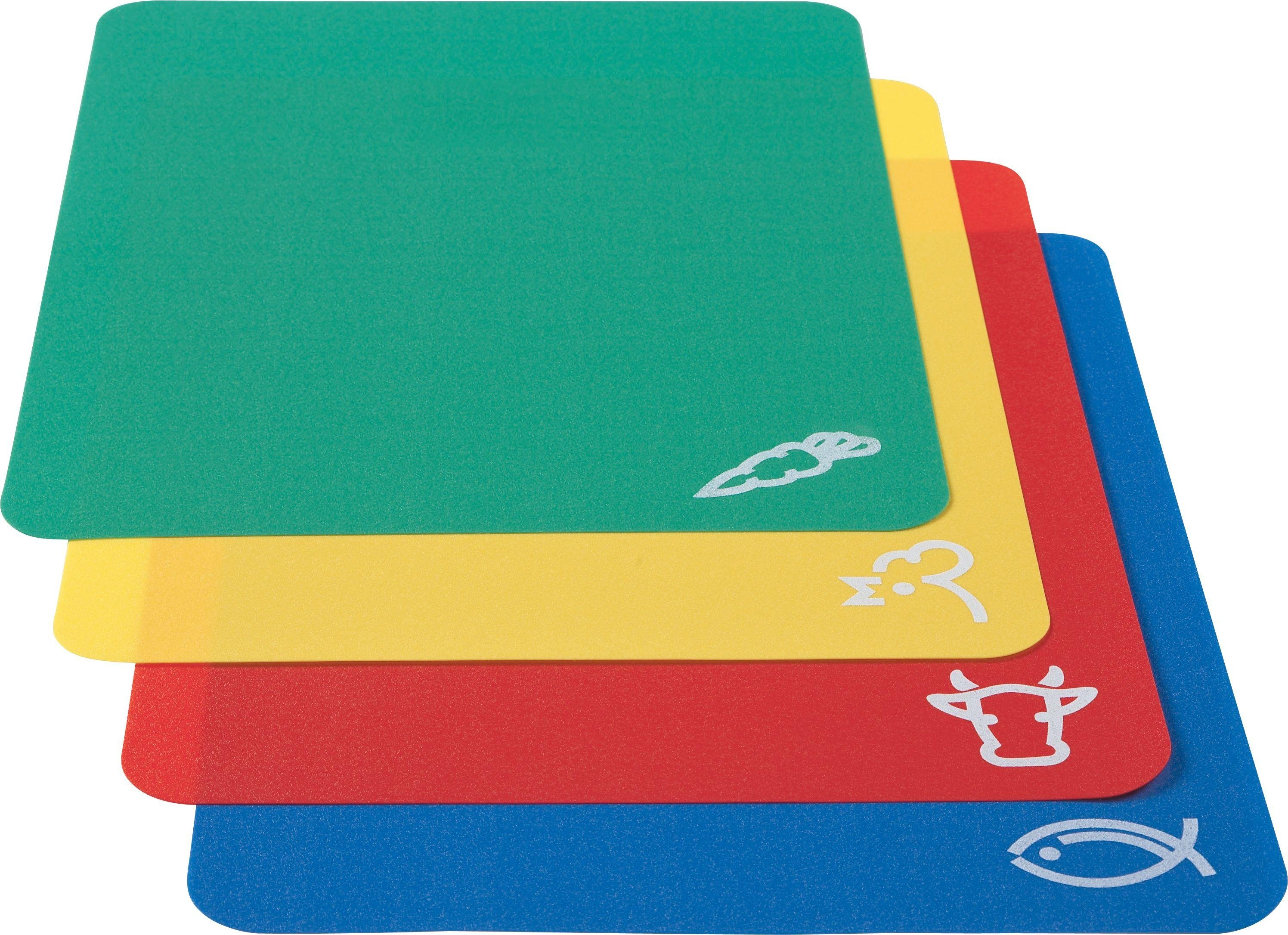 Image of HOME - Pack of 4 Flexible Plastic Chopping Mats