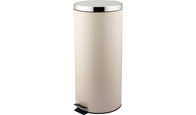 Argos Home 30 Litre Kitchen Pedal Bin - Cream