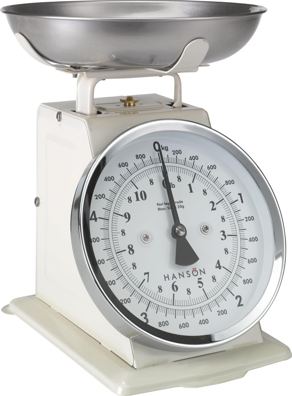 Buy Hanson Traditional Mechanical Kitchen Scale Cream at Argos
