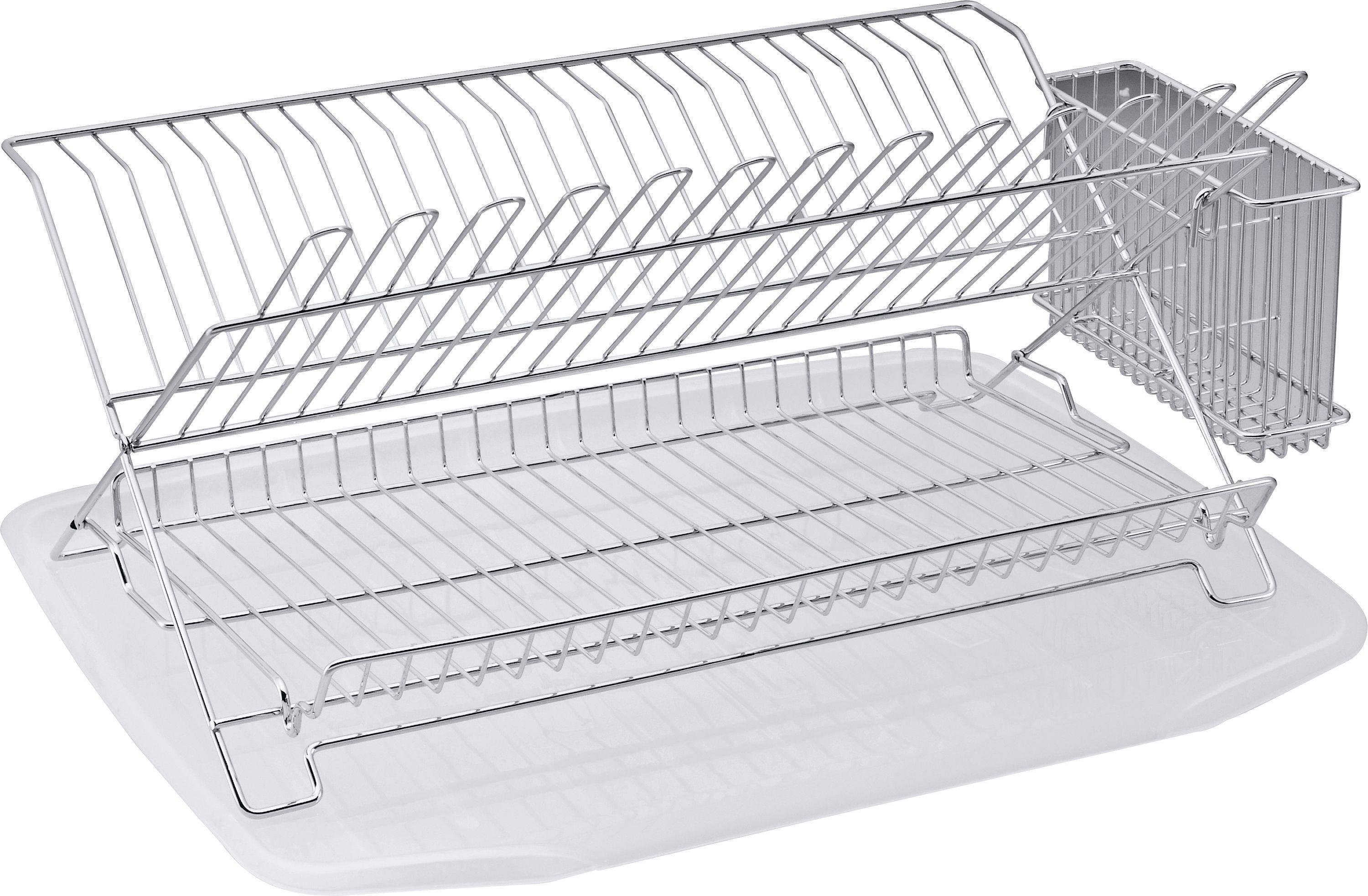 sale on argos home dish rack with drainer chrome. Black Bedroom Furniture Sets. Home Design Ideas