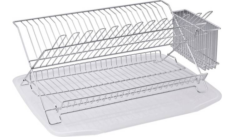 Dish Rack.Buy Argos Home Dish Rack With Drainer Chrome Limited Stock Home And Garden Argos
