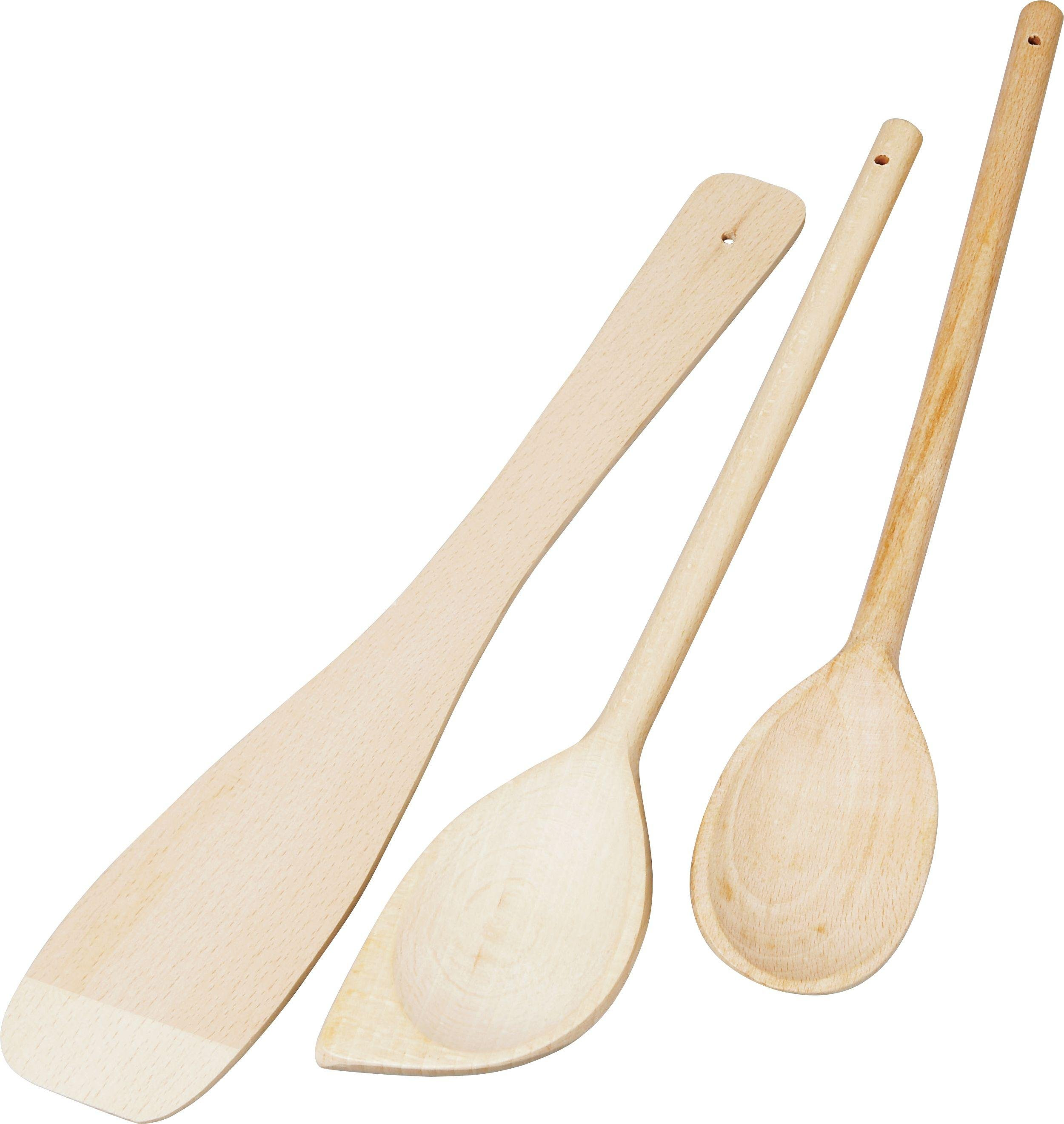 HOME - Wooden 3 Piece Kitchen Utensils Set