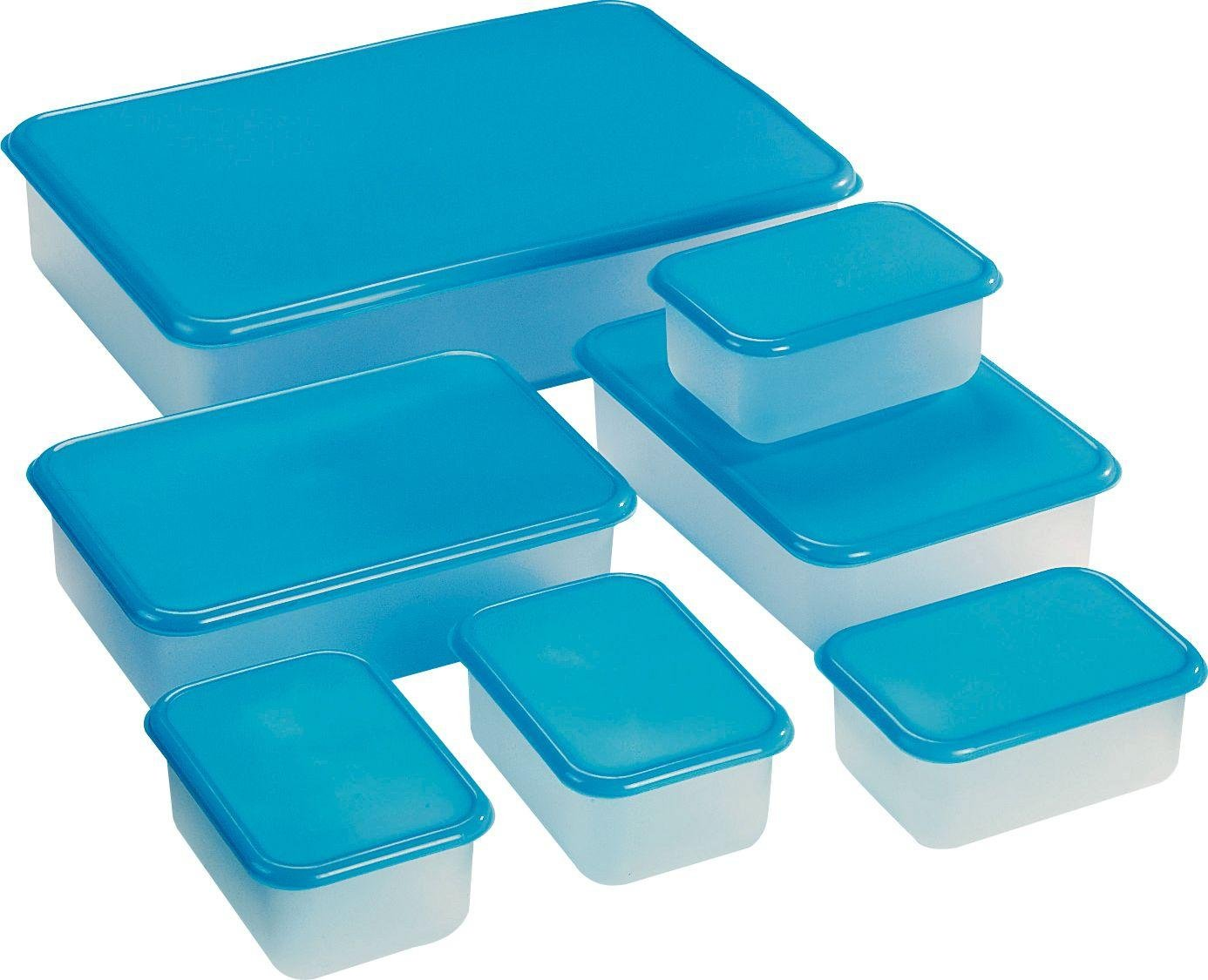 HOME - Plastic Food Storage Set - 7 Piece