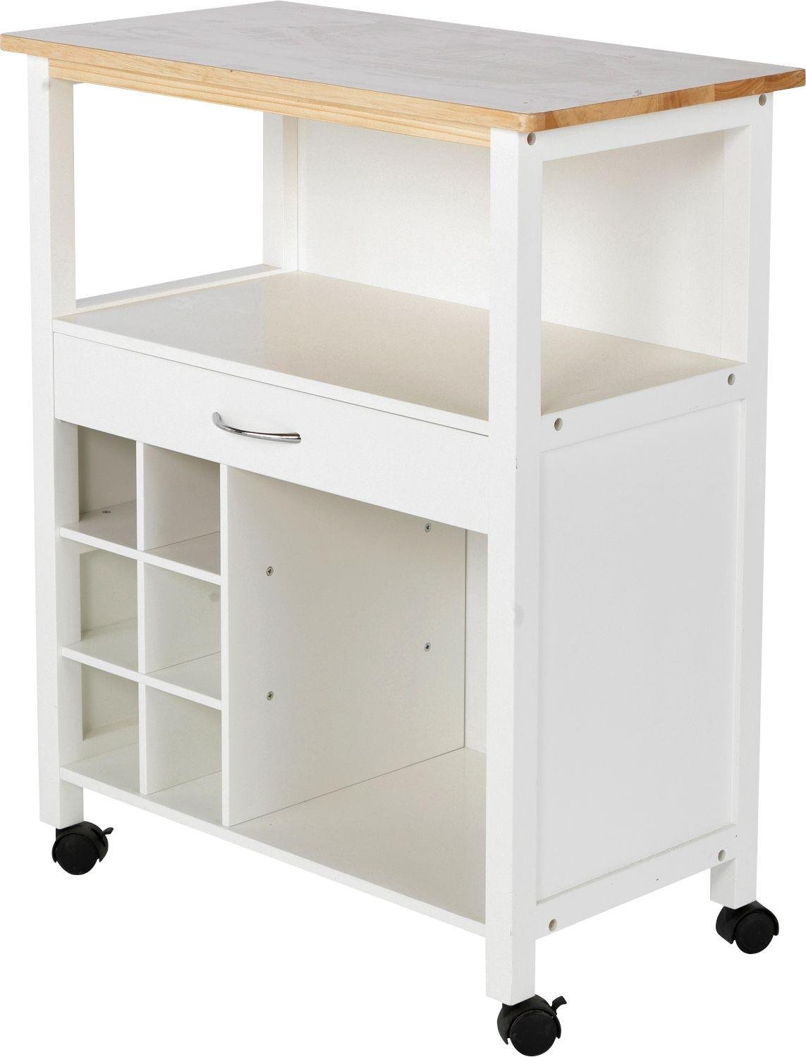 White Kitchen Trolley home kitchen trolley with wine rack white mounted on castors for