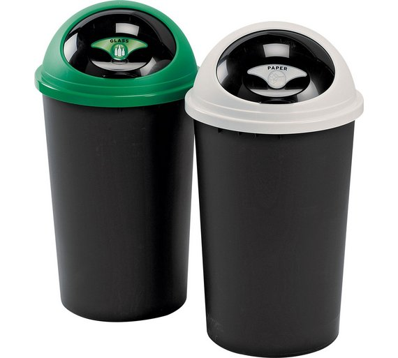home 25 litre recycle bin twin fantastic value for money make recycling simple ebay. Black Bedroom Furniture Sets. Home Design Ideas