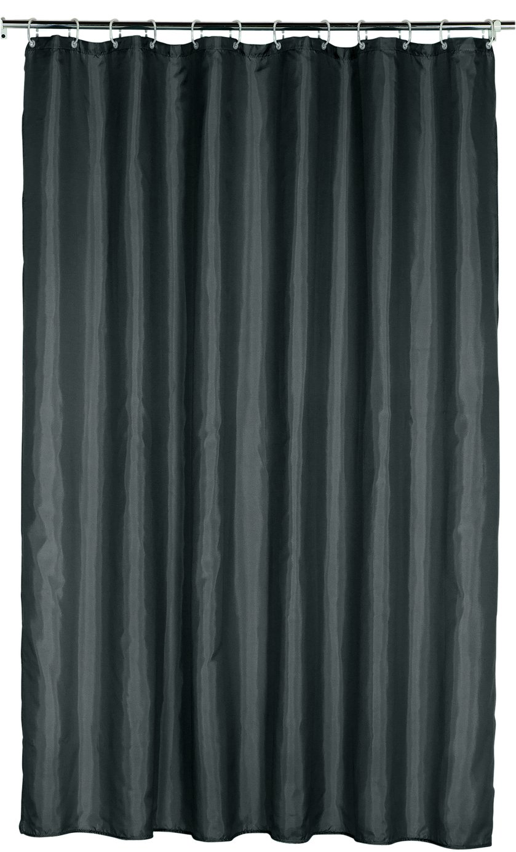 Argos Home Plain Shower Curtain - Jet Black