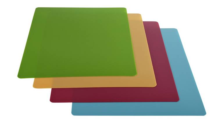 Argos Home Flexible Chopping Mats - Pack of 4