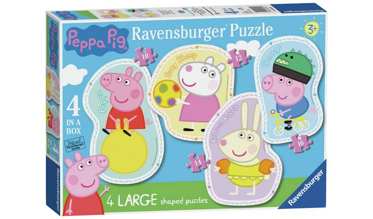 Buy Ravensburger Peppa Pig 4 Large Shaped Jigsaw Puzzles | Puzzles and  jigsaws | Argos