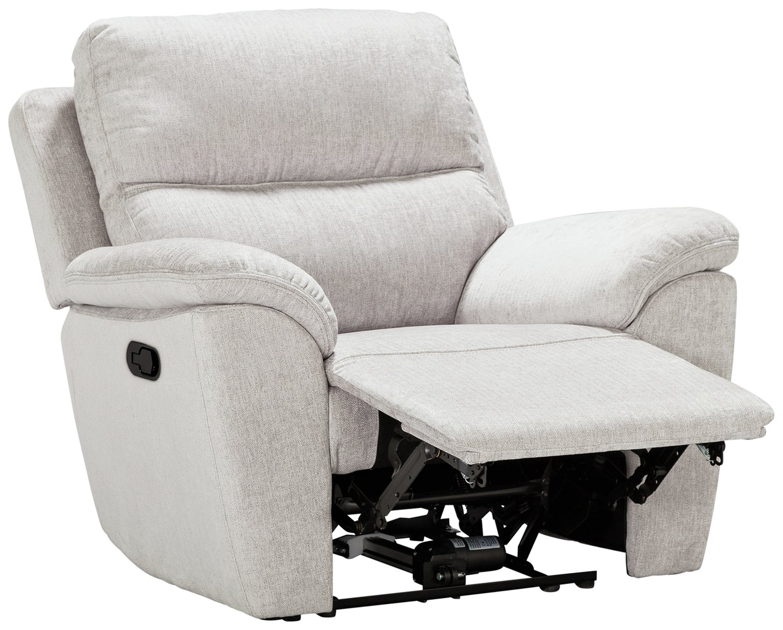 Argos Home Sandy Fabric Manual Recliner Chair - Silver