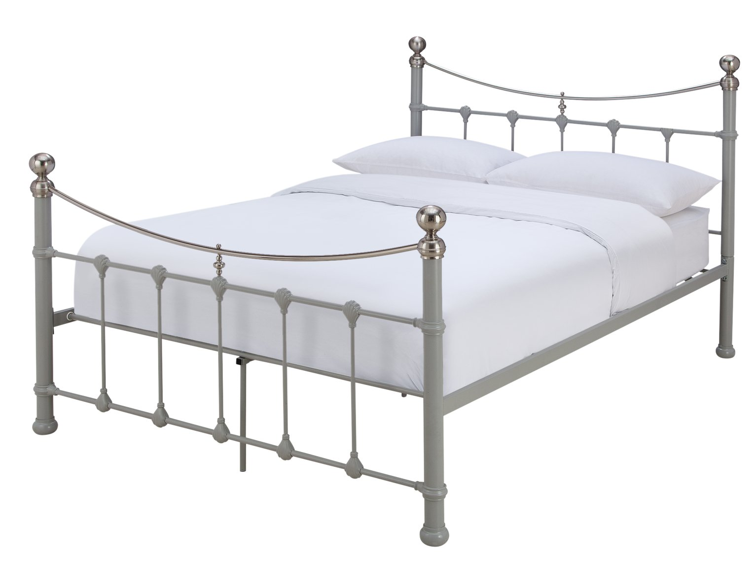 Argos Home Jayna Kingsize Bed Frame - Grey
