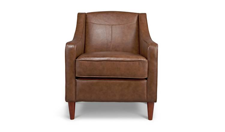 Habitat Dorian Faux Leather Armchair - Tan