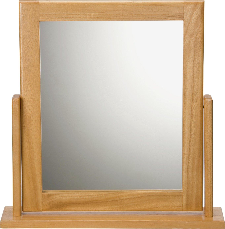 Argos Home Square Dressing Table Mirror - Oak Effect