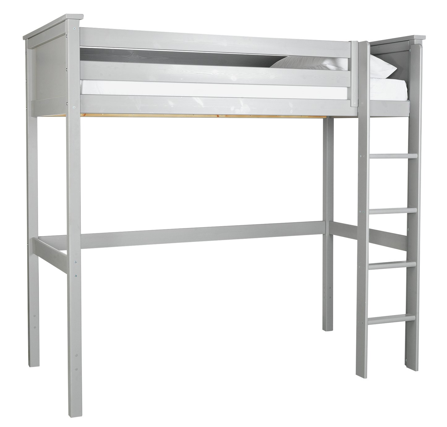 Argos Home Brooklyn Grey High Sleeper Bed & Kids Mattress