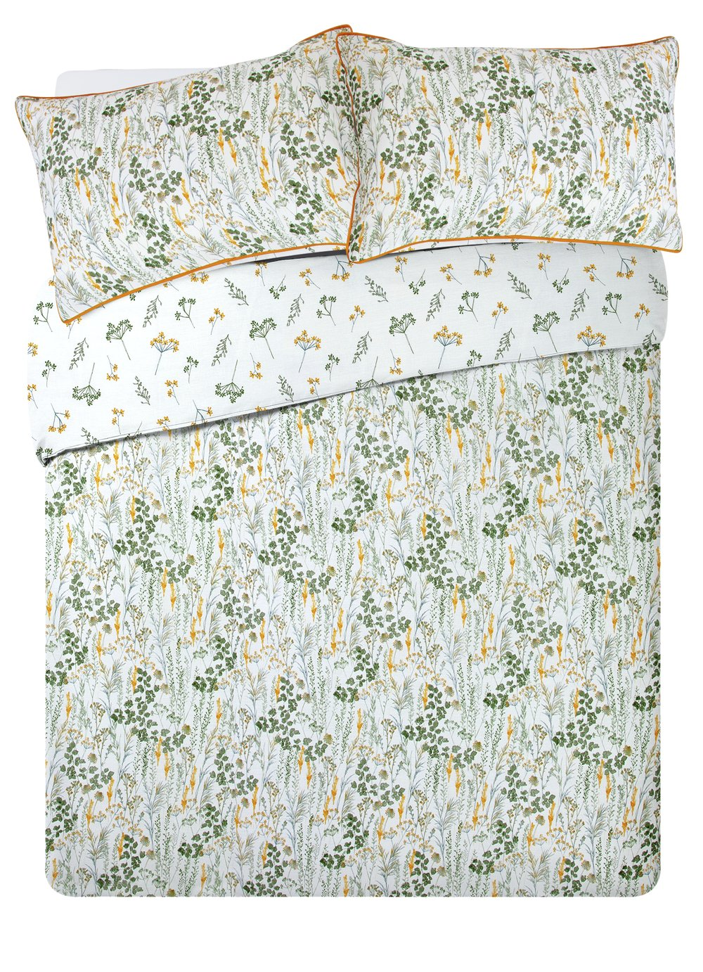 Argos Home Wildflowers Sateen Bedding Set - Double
