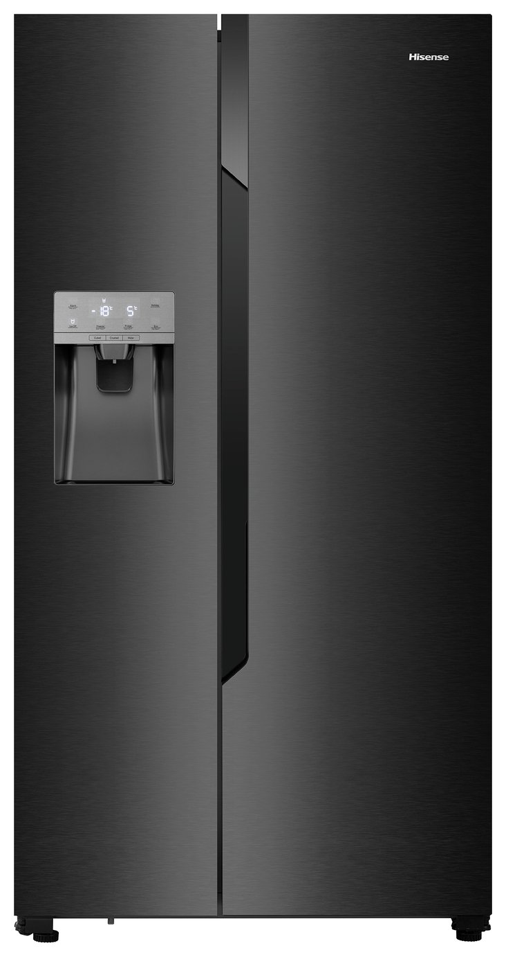 Hisense RS694N4TB1 American Fridge Freezer - Black