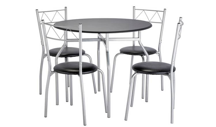 Buy Argos Home Oslo Round Dining Table 4 Chairs Black Space