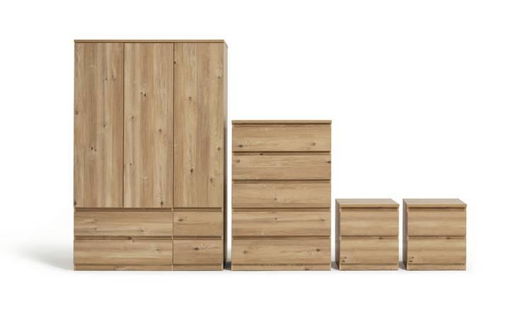 Buy Argos Home Jenson 4 Piece 3 Door Wardrobe Set Oak