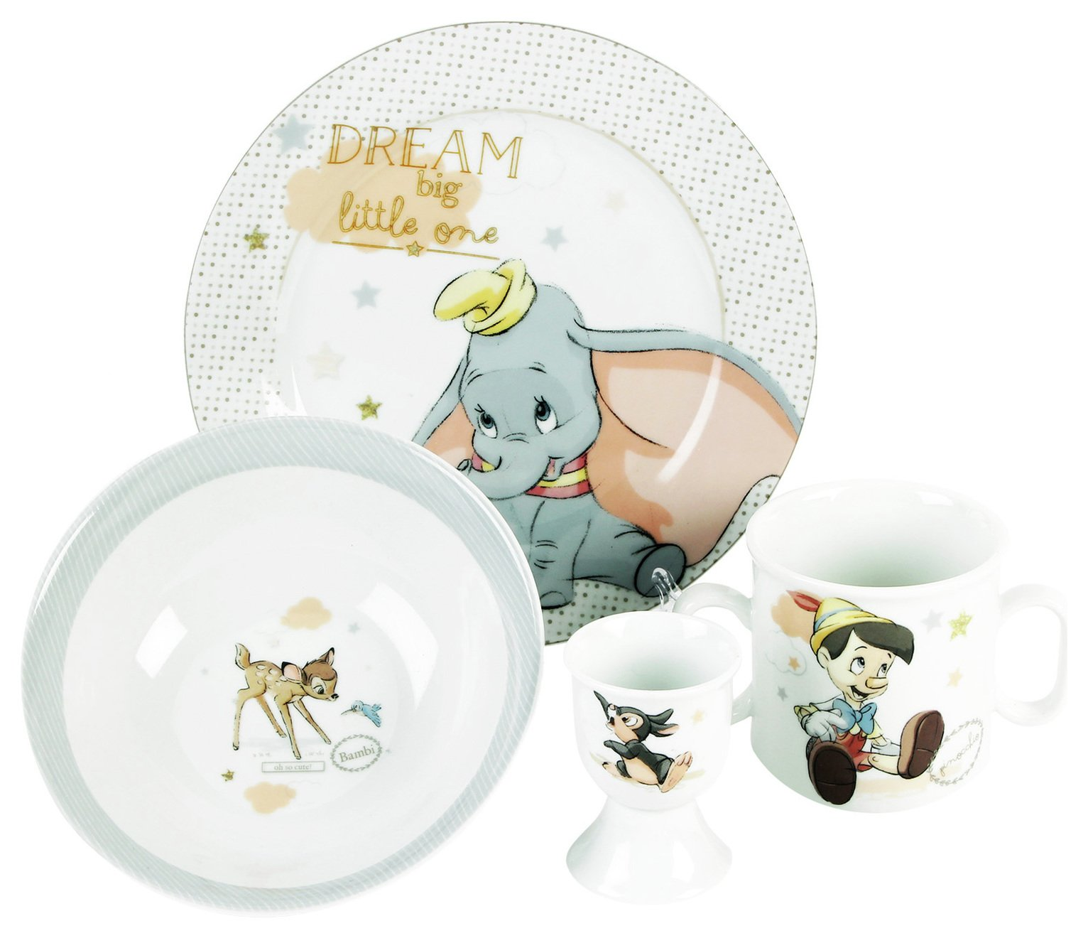 Disney Magical Beginnings Bowl, Plate, Mug and Egg Cup Set
