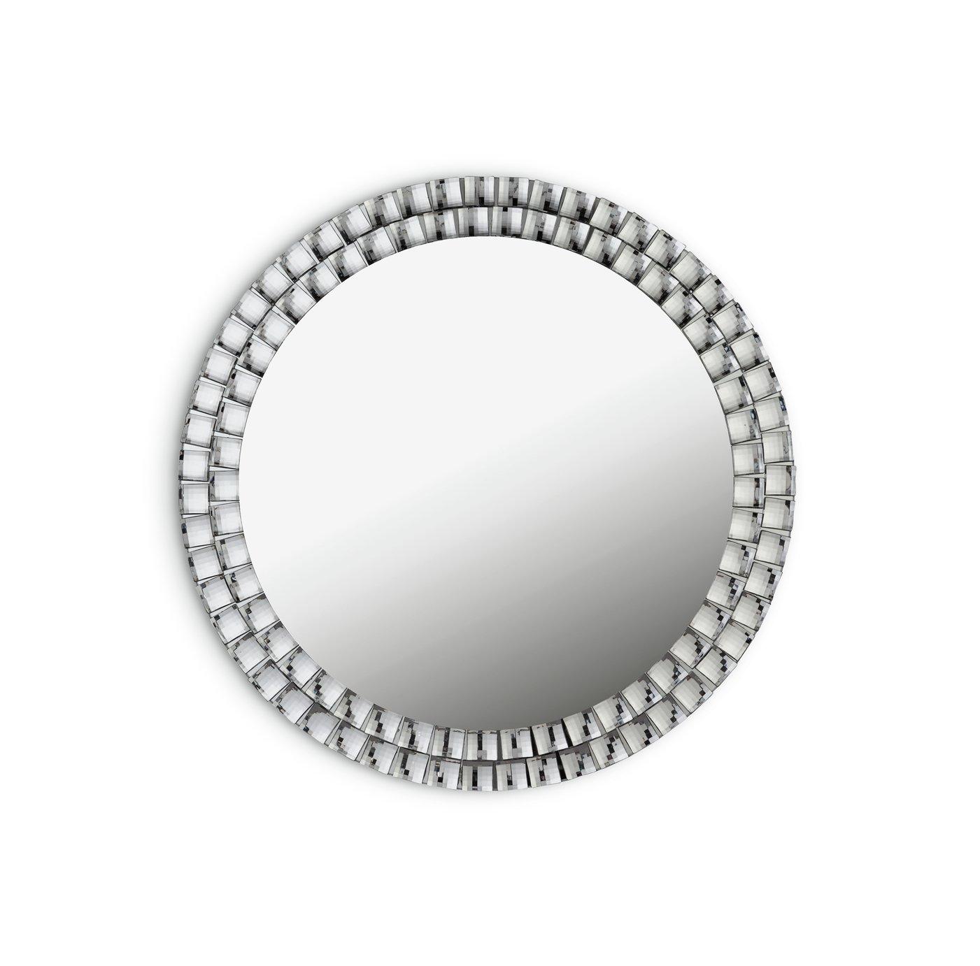 Argos Home Circular Jewelled Glass Mirror