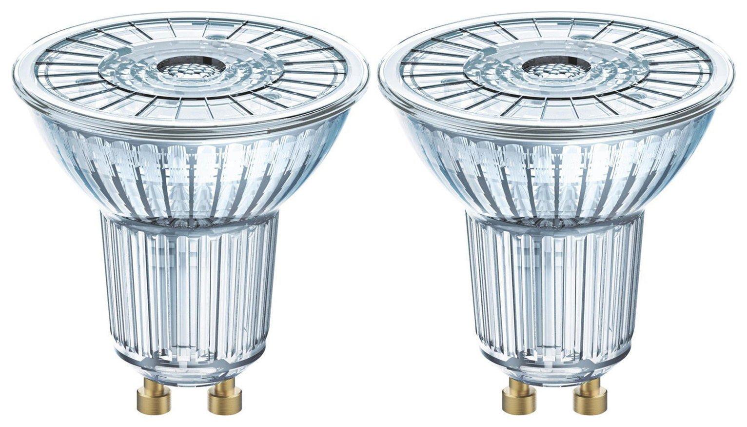 Twin Pack Osram 50W LED Full Glass GU10 Bulb