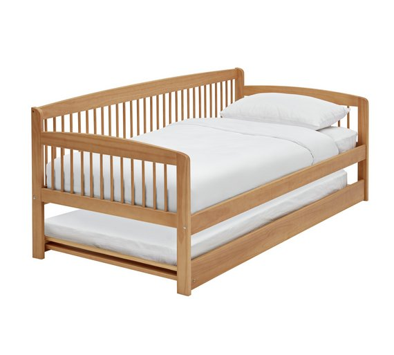 Buy Argos Home Andover Day Bed w/ Trundle & 2 Mattresses - Pine ...