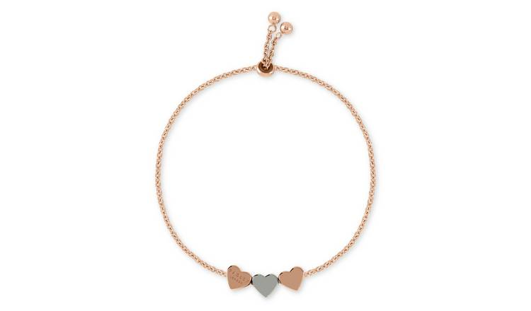 Radley 18ct Rose Gold and Silver Plated Heart Charm Bracelet