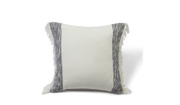 Habitat Handwoven Plain Cushion - Grey