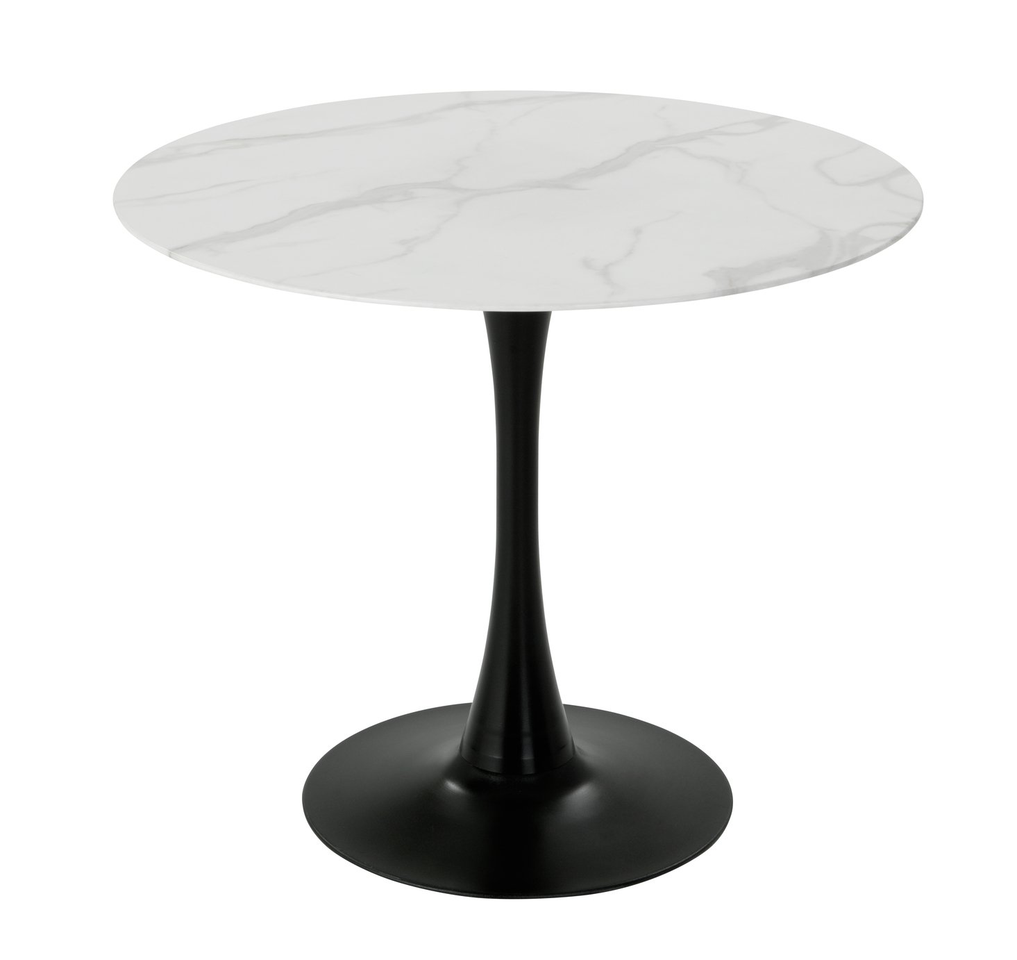 Habitat Tulip Marble Effect 4 Seater Dining Table