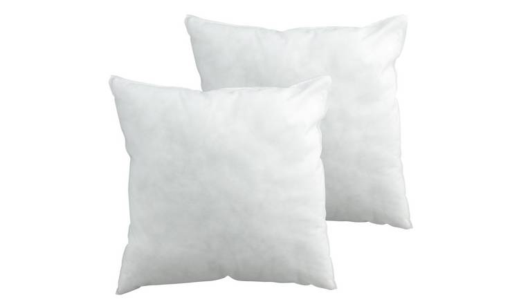 Argos Home Hollowfibre 43x43cm  Cushion Pads - 2 Pack