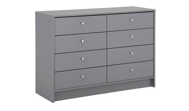 Habitat Malibu 4 + 4 Drawer Chest - Grey