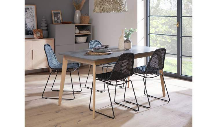Habitat Skandi Concrete Effect 6 Seater Dining Table