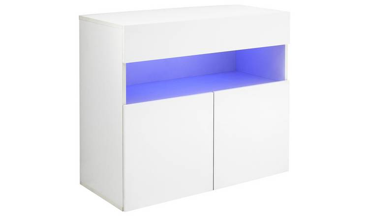 Galicia 3 Door Wall Mounted LED Sideboard - White