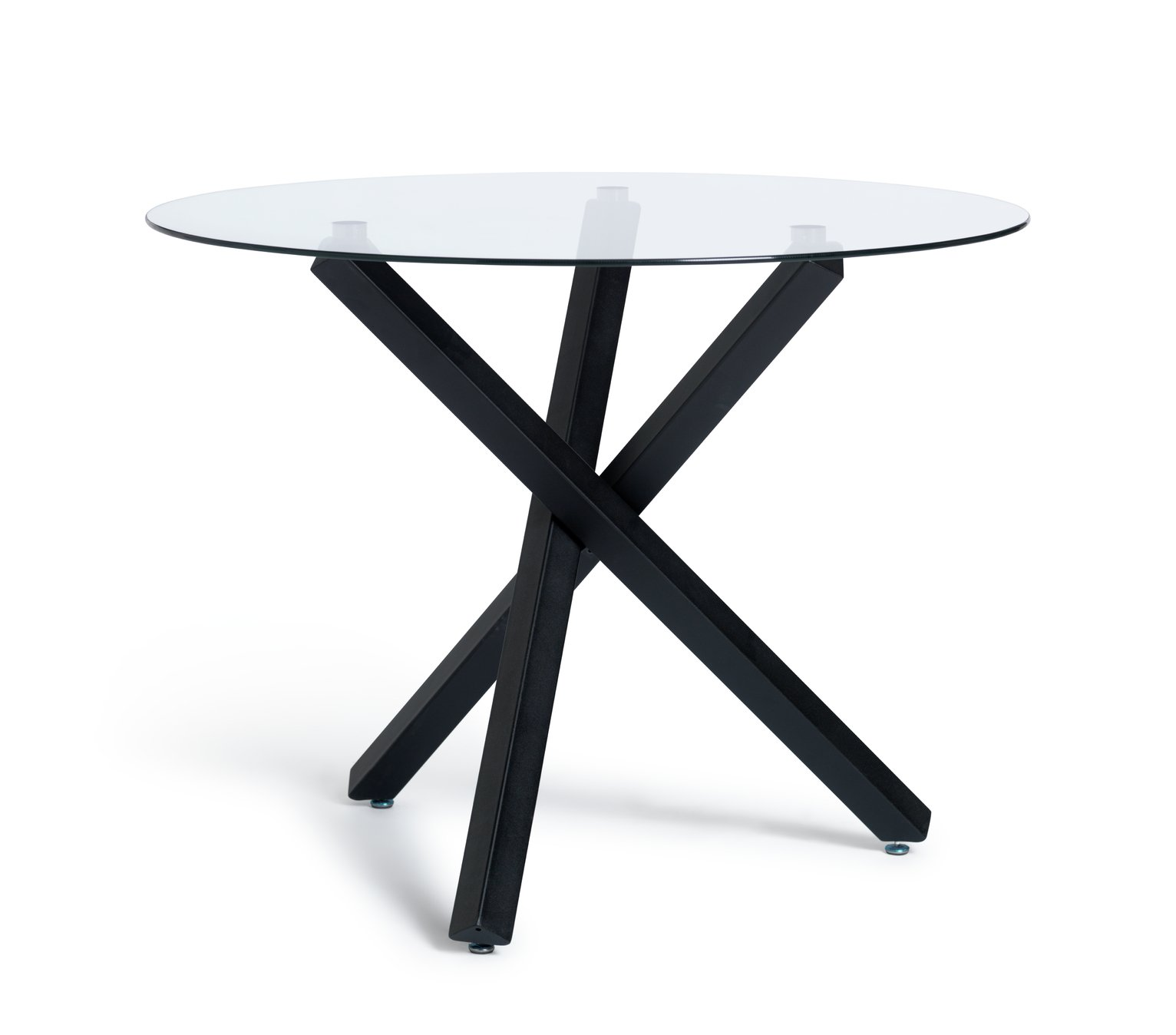 Argos Home Ava Glass 4 Seater Round Dining Table