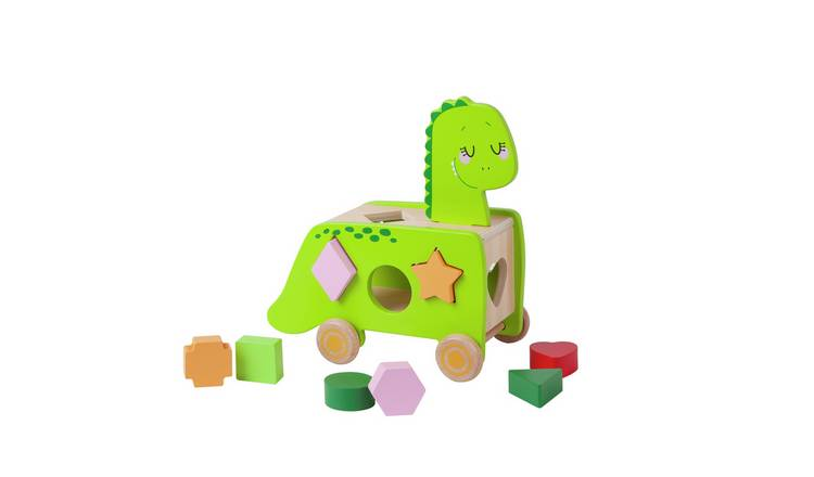 Chad Valley Wooden Dinosaur Shape Sorter