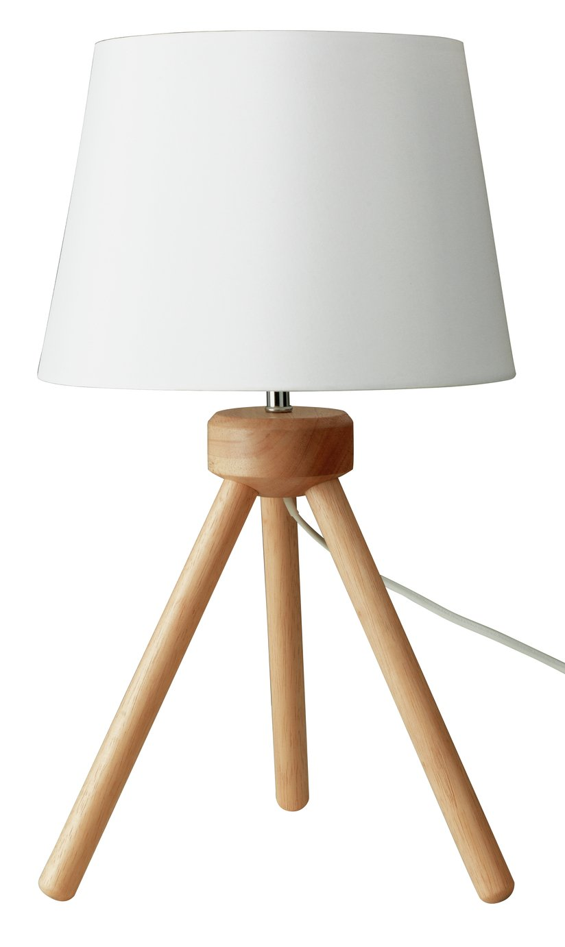 Buy Argos Home Retreat Tripod Table Lamp Wooden Table Lamps