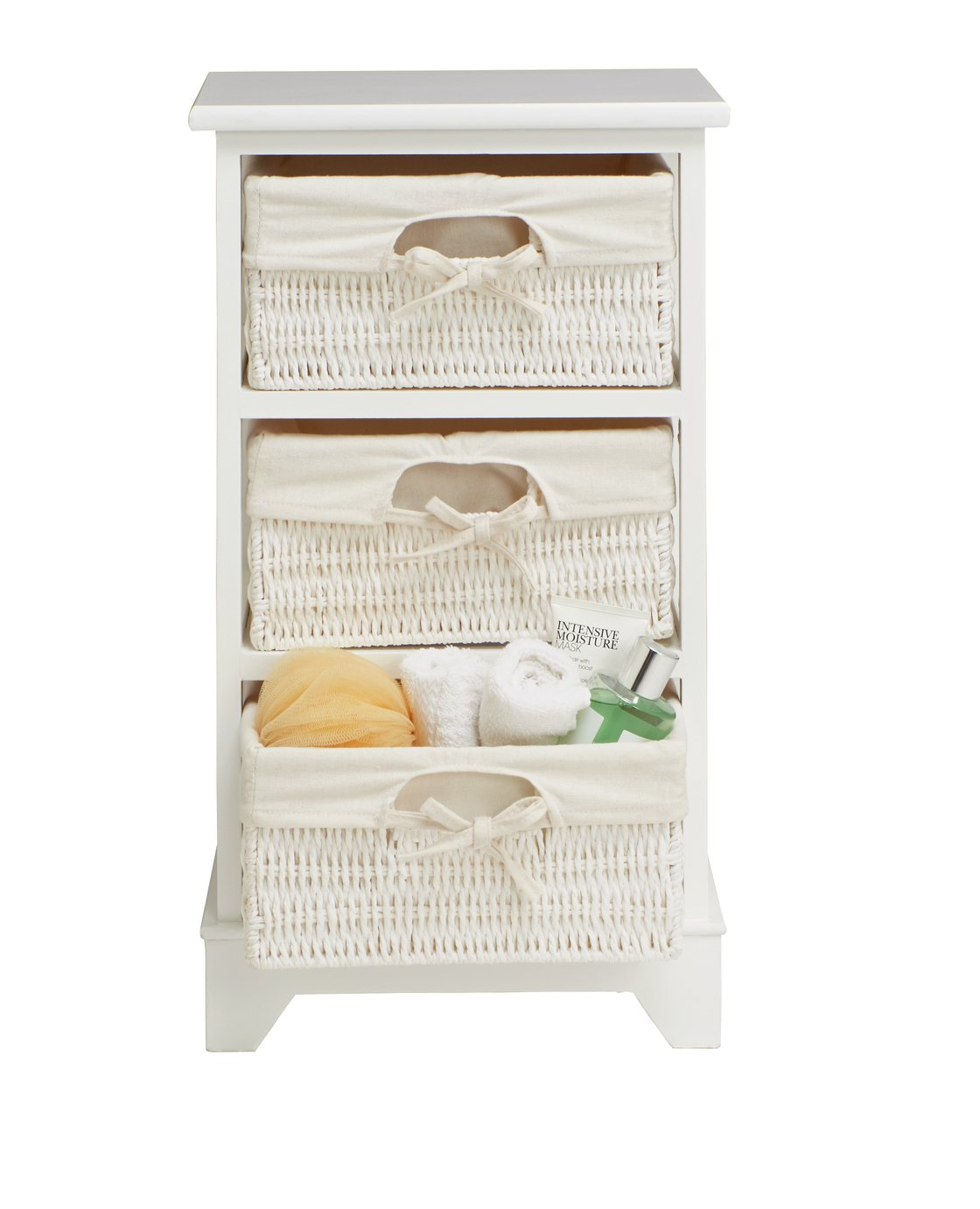 Buy Argos Home Isla Storage Unit With 3 Baskets   White | Storage Units And  Drawers | Argos