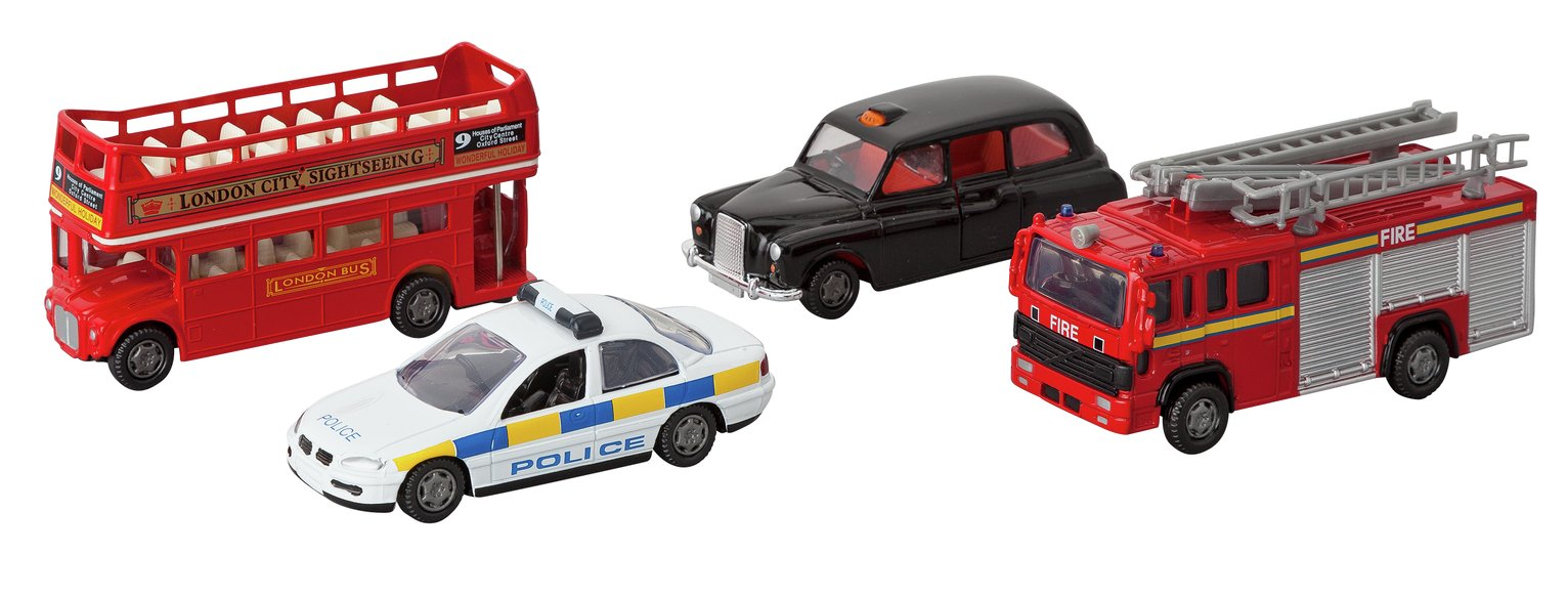 Image of Chad Valley 4 inch Diecast Service Vehicles Set - Assorted