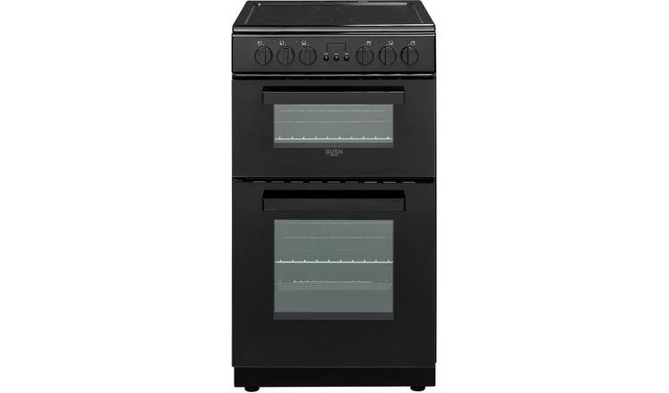 Bush DHBETC50B 50cm Twin Cavity Electric Cooker - Black
