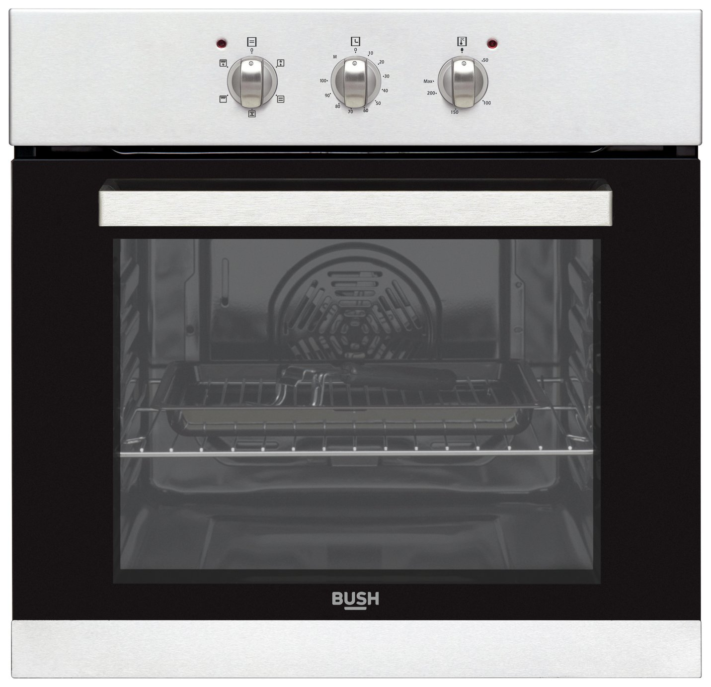 Bush BIBFOS Built In Single Electric Oven - Stainless Steel