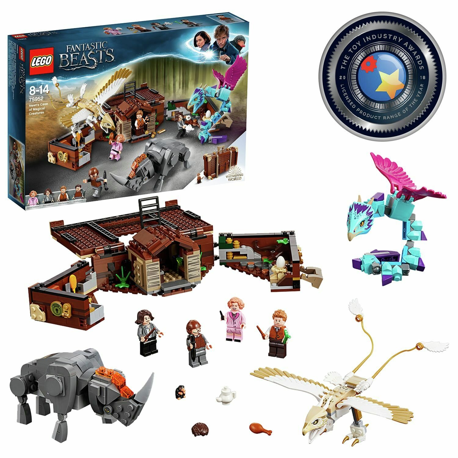 LEGO Fantastic Beasts Newt's Case of Magical Creatures-75952