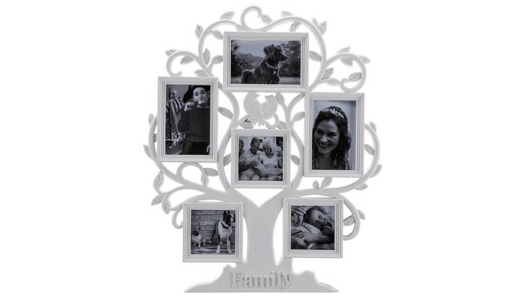 Argos Home 6 Print Family Tree Photo Frame - White